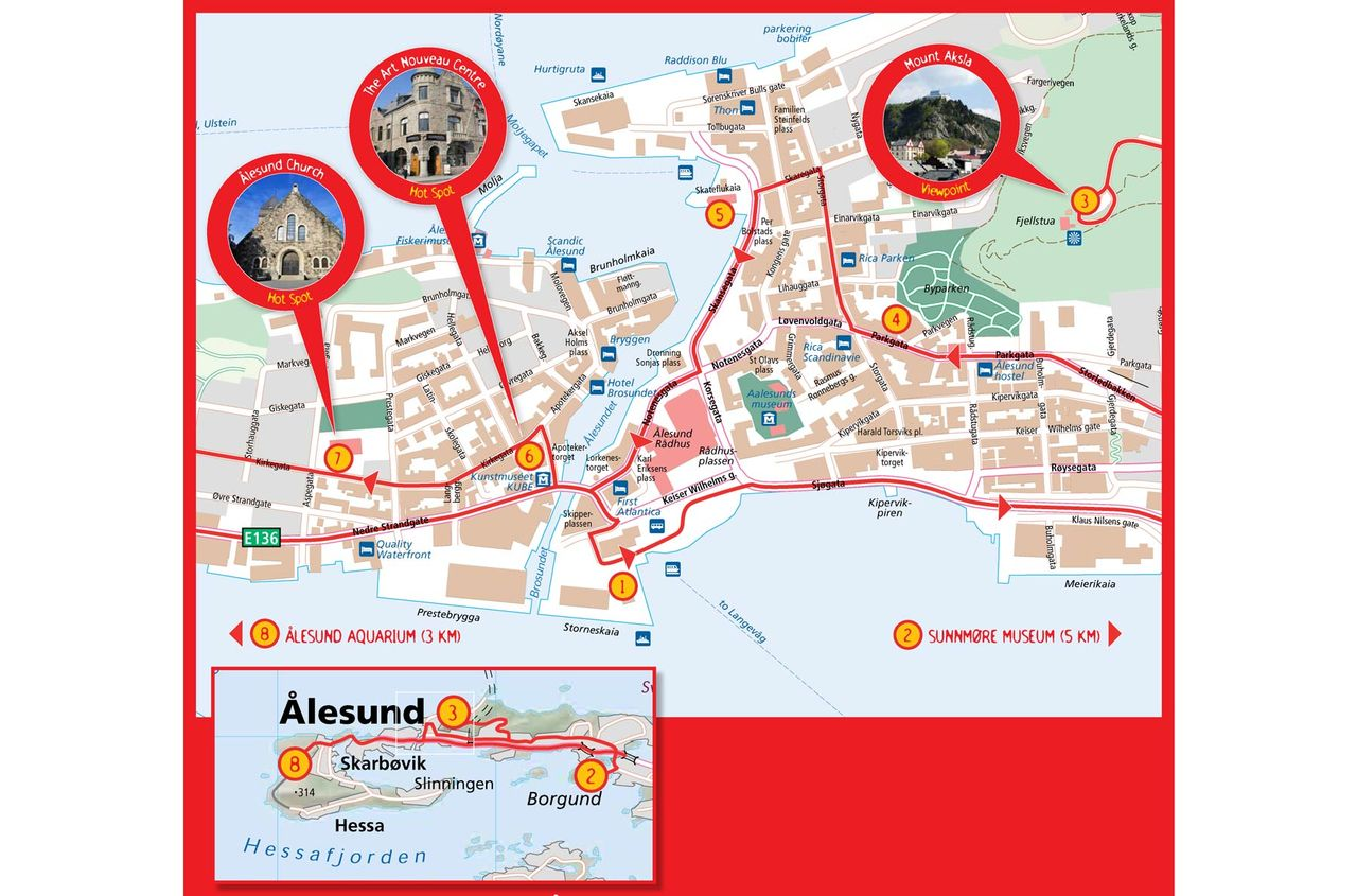 HopOn HopOff Bus Alesund Official City Sightseeing Tour 2018