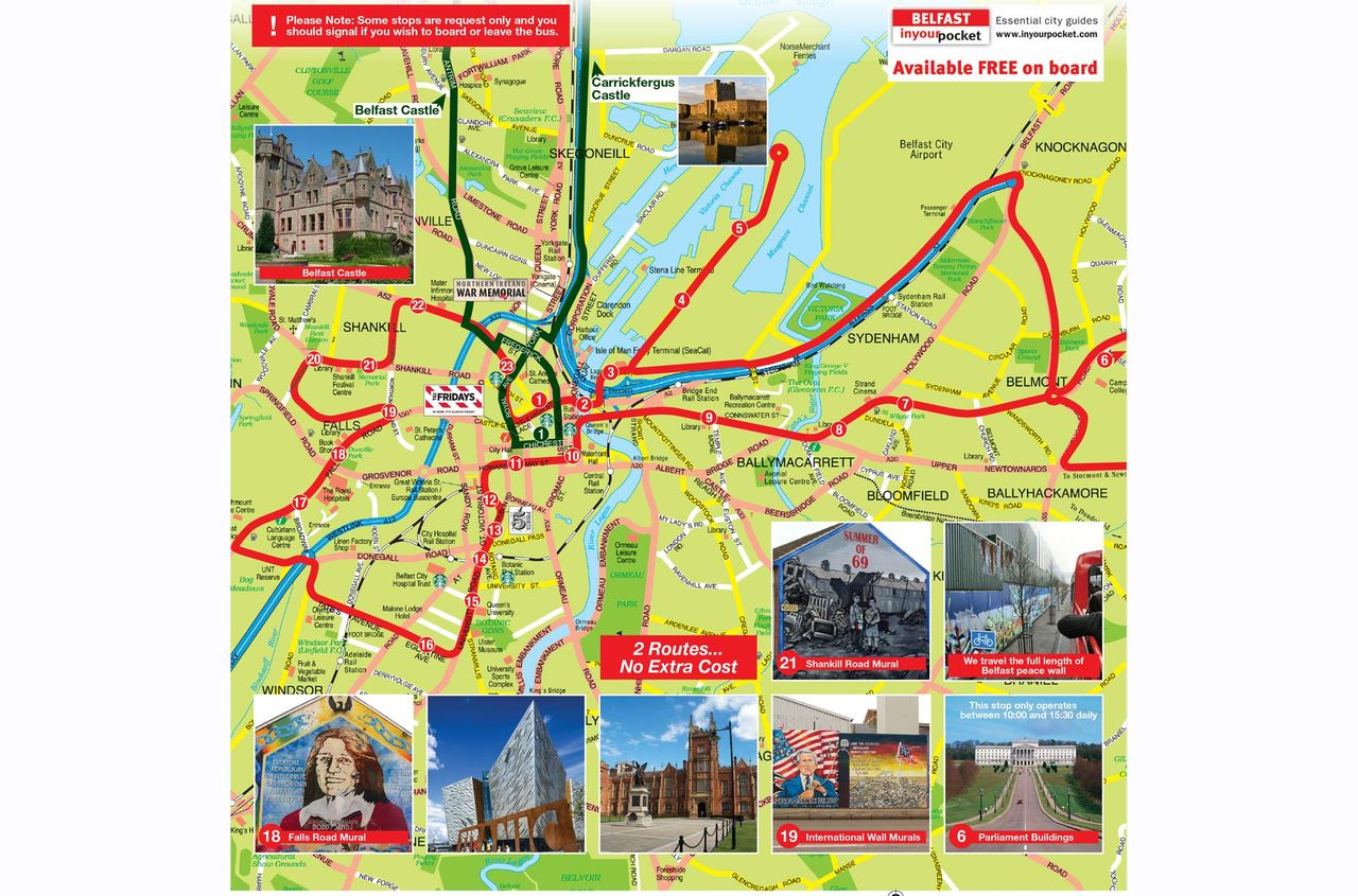 HopOn HopOff Bus Belfast Official City Sightseeing Tour 2018
