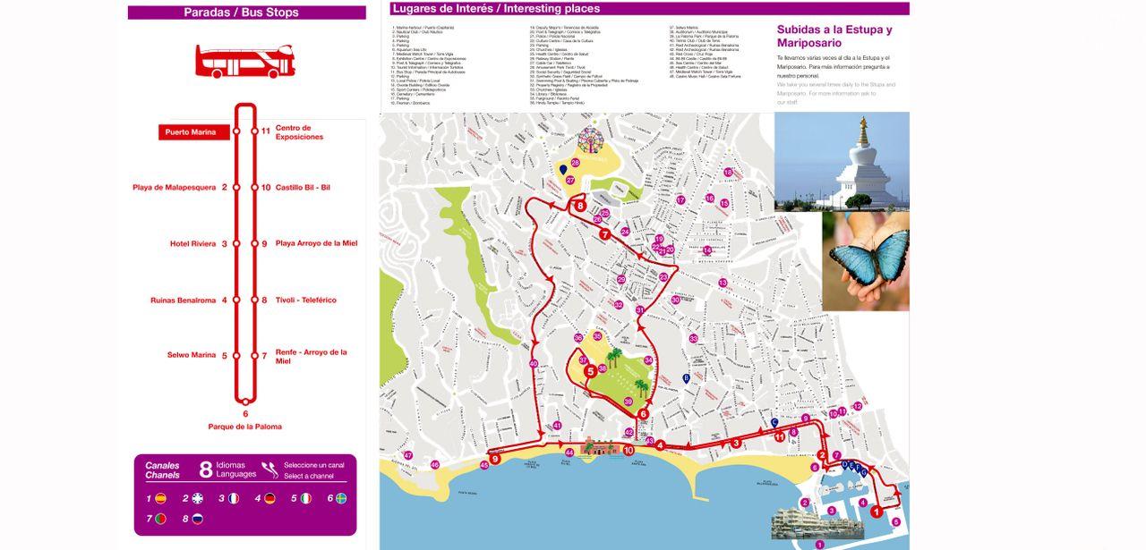 Benalmadena hop-on hop-off bus tour