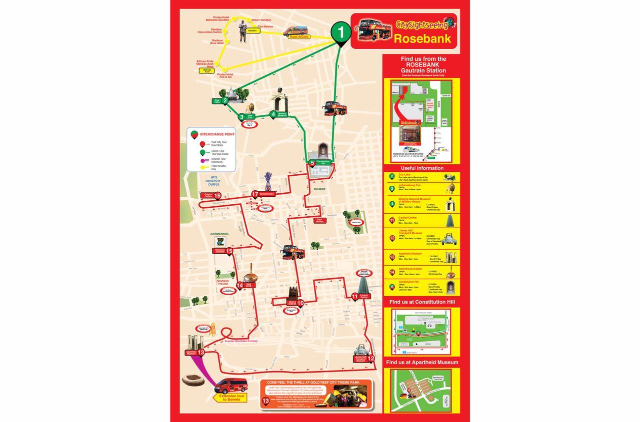 HopOn HopOff Bus Johannesburg Official City Sightseeing Tour