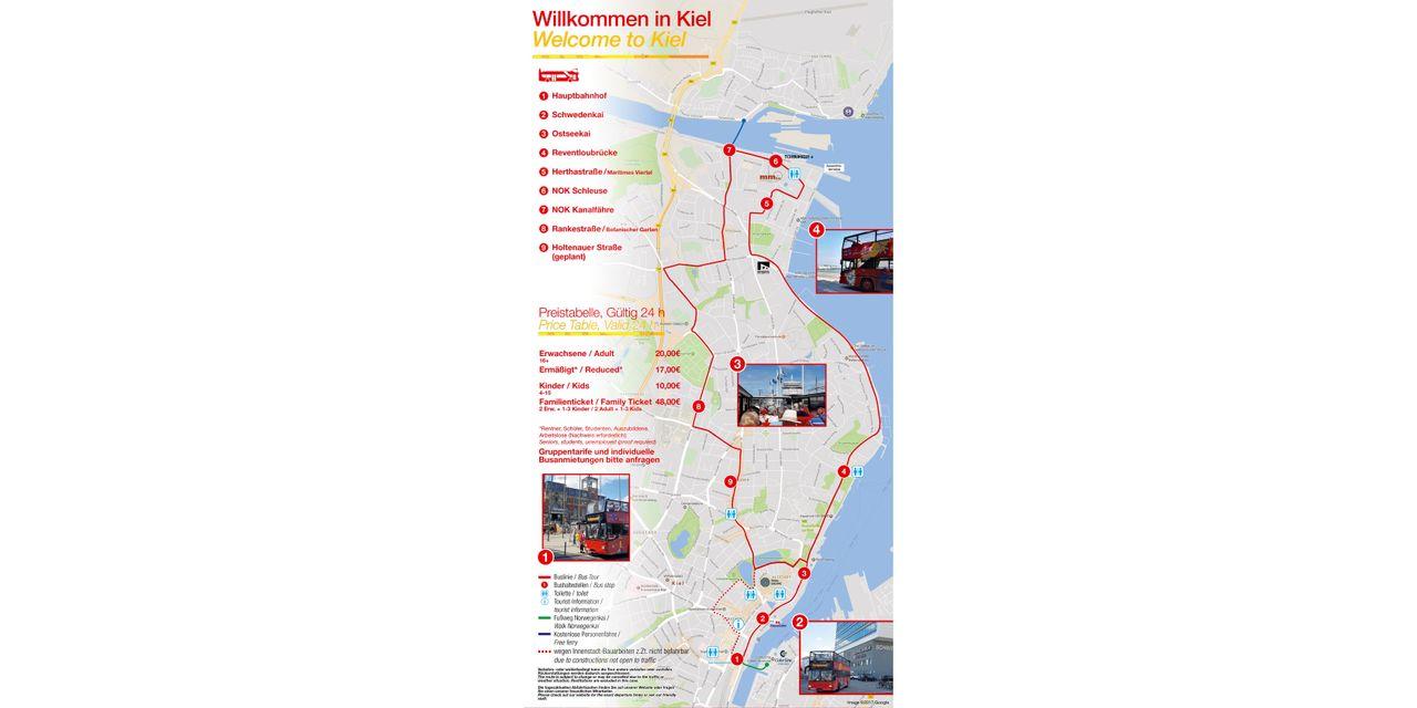HopOn HopOff Bus Kiel Official City Sightseeing Tour 2018