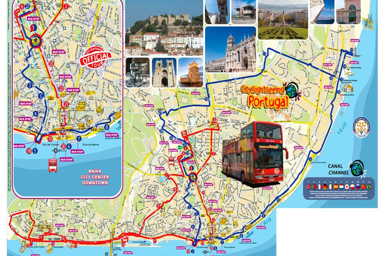HopOn HopOff Bus Lisbon Official City Sightseeing Tour 2018