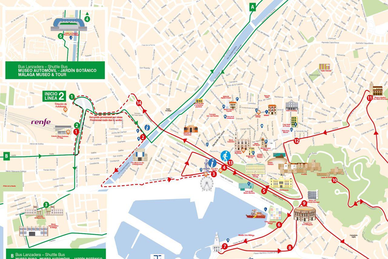HopOn HopOff Bus Malaga Official City Sightseeing Tour 2018