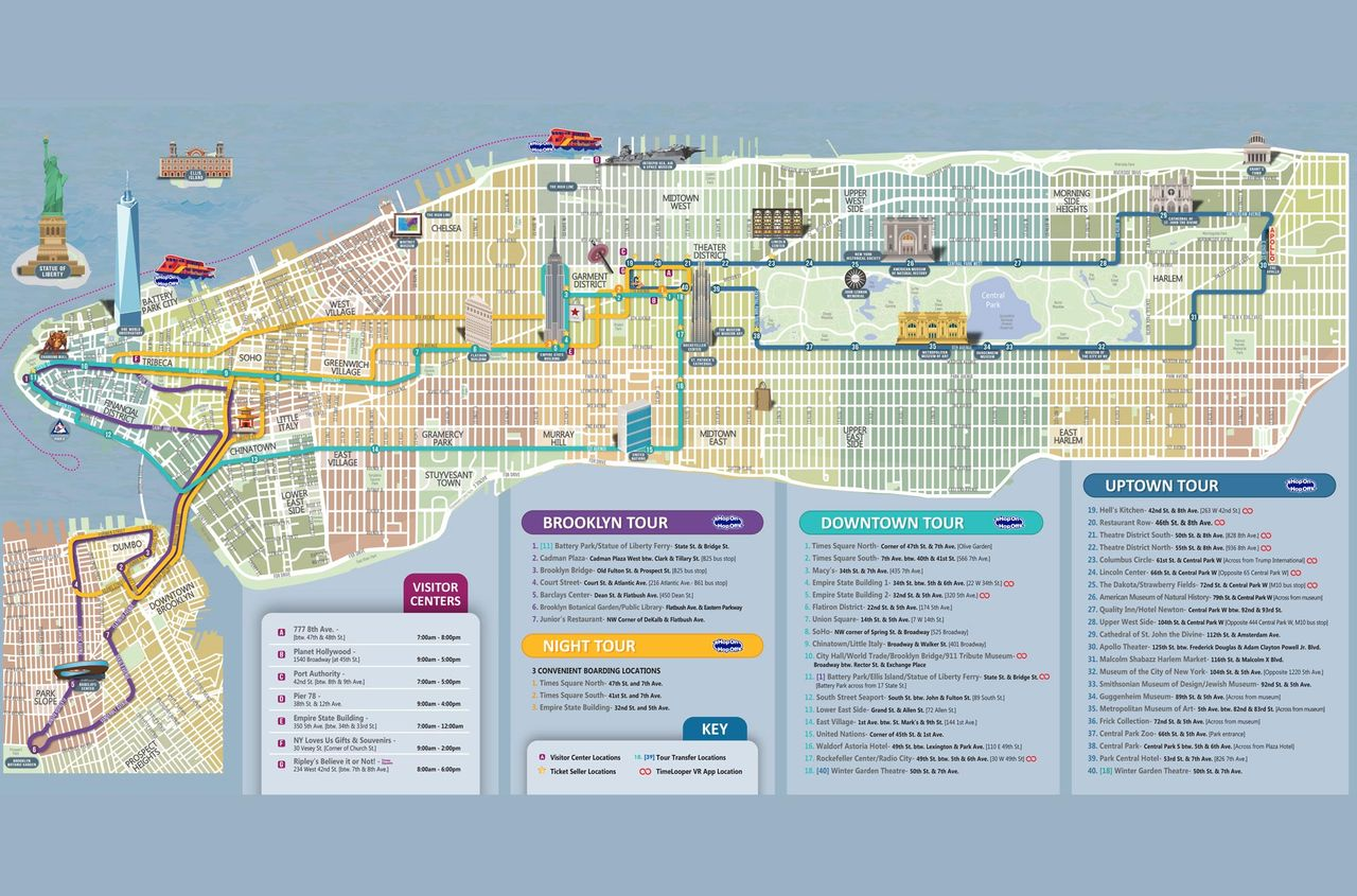 Create A Restaurant Floor Plan Hop On Hop Off New York 1 Route City Sightseeing 169