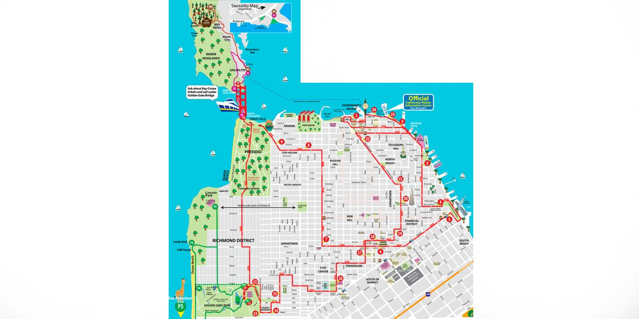 Hop-On/Hop-Off-Bustour San Francisco | City Sightseeing© on