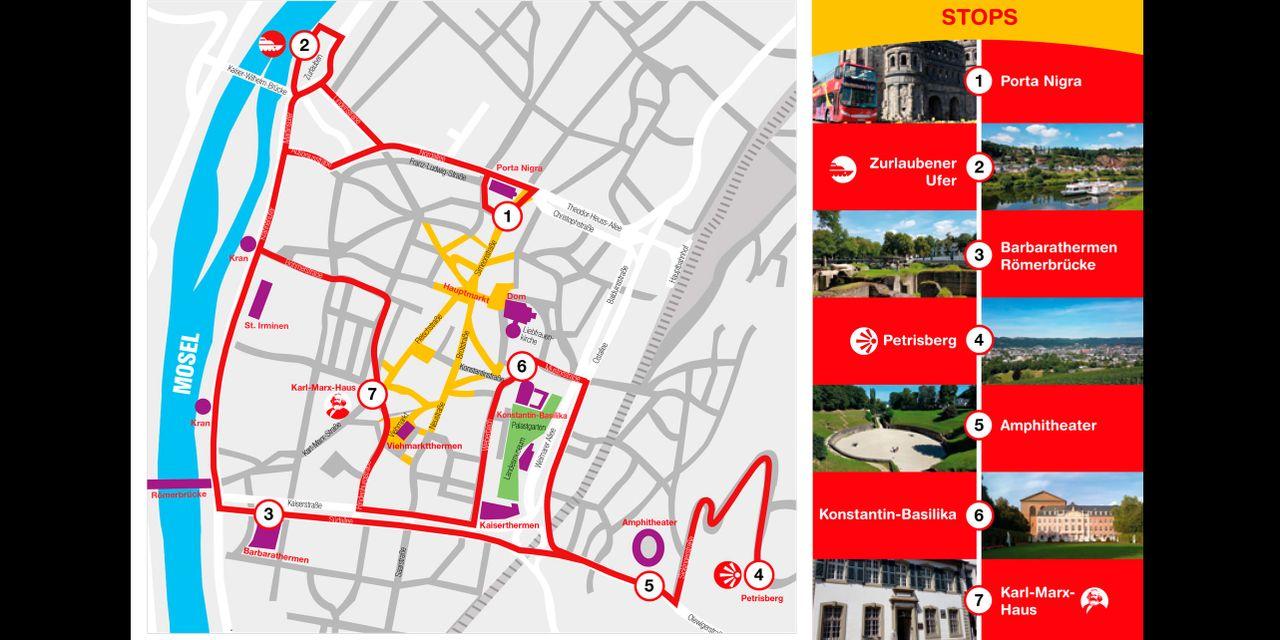 HopOn HopOff Bus Tour Trier Official City Sightseeing Tour 2018