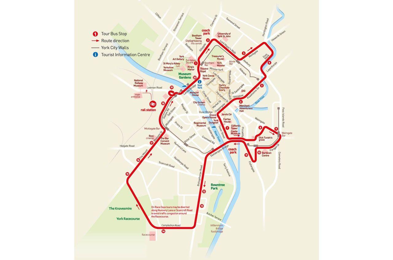 HopOn HopOff Bus York Official City Sightseeing Tour 2018