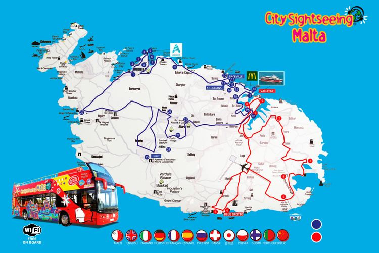 Hop-On Hop-Off Bus Malta | Official City Sightseeing© Tour 2019