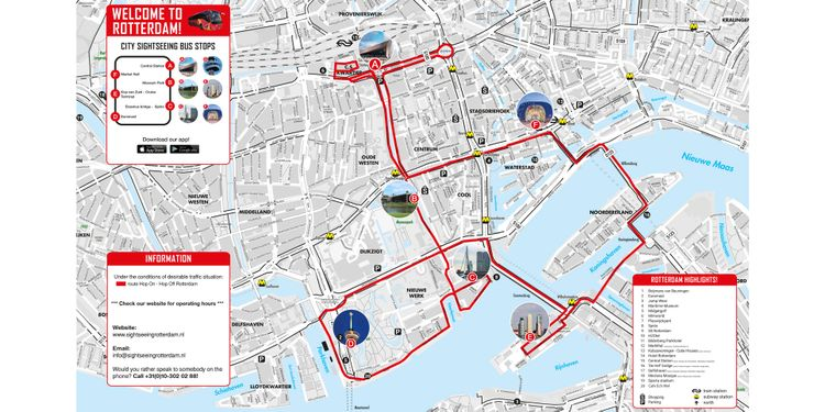 Hop-On/Hop-Off-Bustour Rotterdam | Offizielle City Sightseeing© Tour